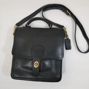 Vintage Coach 5130 station bag black leather